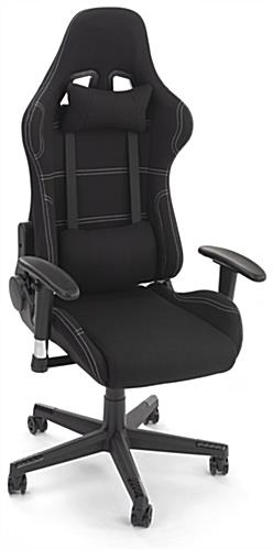 47 inch tall PC gaming chair features grey contrast stitching