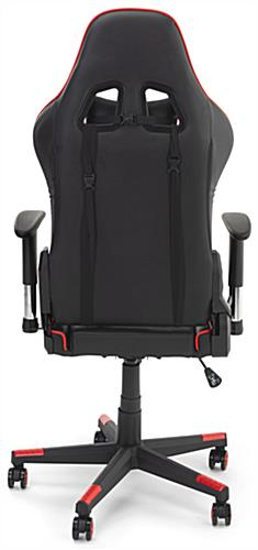 Racing style office chair with removable support cushions