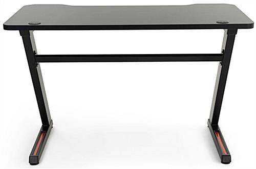 Gaming desk computer table with 40 inch wide reinforcement crossbar