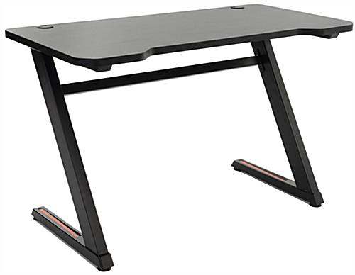 Gaming desk computer table with sleek curved-edge design