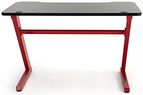 Ergonomic gaming z desk features 40 inch wide reinforced crossbar
