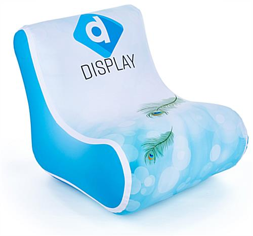 30-inch wide portable blow up chair for trade shows