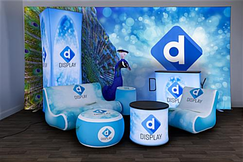 custom inflatable event ottoman highlights branding