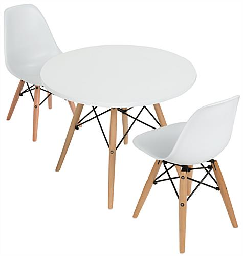 Modern Seating Set for Children Ages 4 to 7 ...  sc 1 st  Displays2go & Modern Seating Set for Children   Eames-Style Table with 2 Chairs