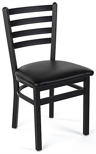 Steel side chair with 300 pound weight capacity