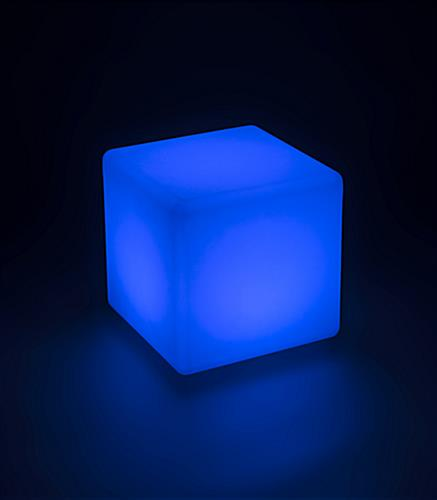 Light Up Cube Table Stool with Blue Light Color