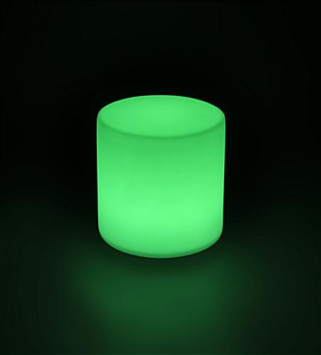Light Up Round Cocktail Table Stool with Green Light Color