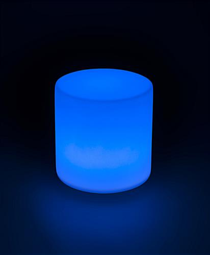Light Up Round Cocktail Table Stool with Blue Color