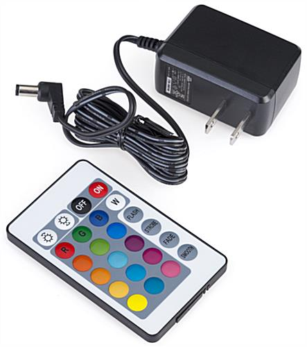 LED lighted cocktail table remote control and power cord