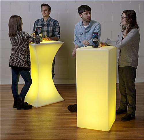Modern LED Hourglass Pub Table