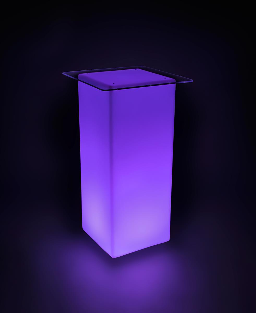 Led Lighted Cocktail Table Acrylic Tabletop