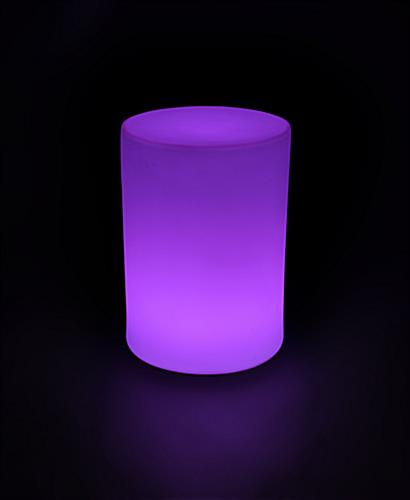 Round Light Up Glow LED Table