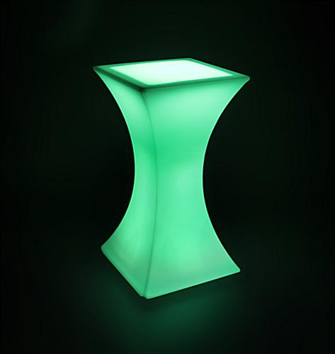 Green LED Hourglass Pub Table