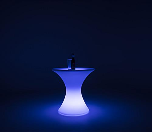 LED cocktail table soft lighting