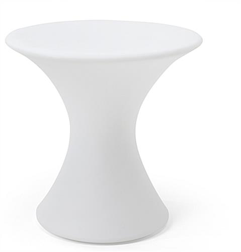 LED cocktail table with 23.5-inch diameter top