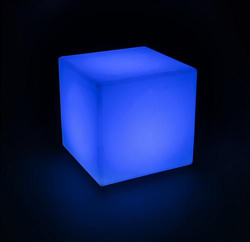 LED Cube Table in Blue Light Color
