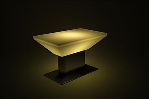 multicolor modern LED glow coffee table