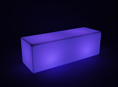 multicolored LED lounge bench