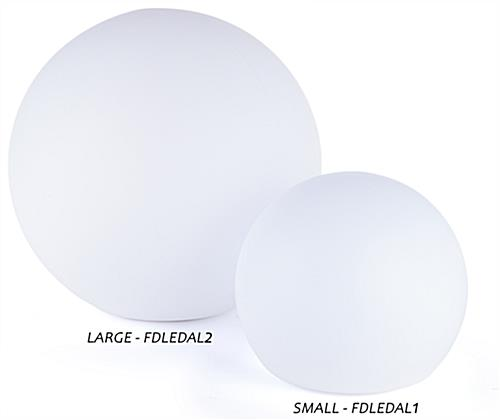 LED ball lamp offered in two ideal globe sizes