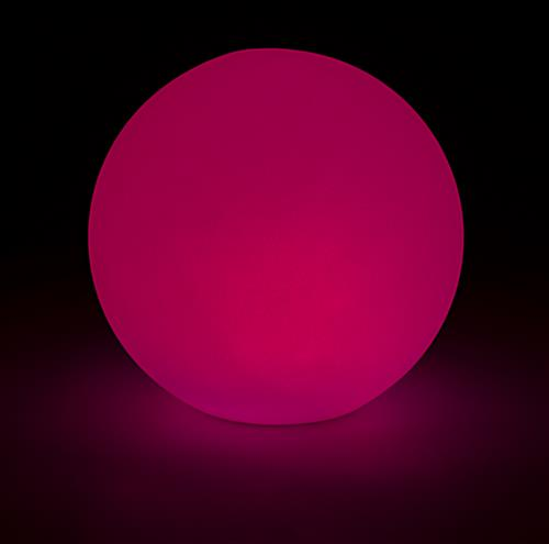 LED ball lamp creates a bold colored lighting