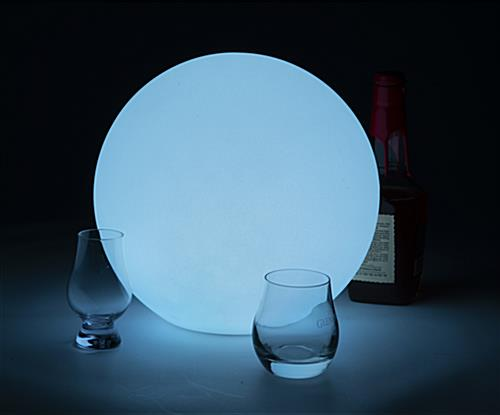 LED ball lamp sets a nice subtle with this light blue color