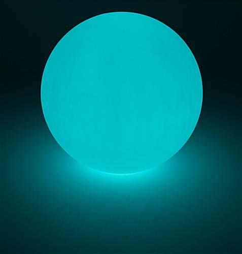 Large LED ball with turquoise lighting