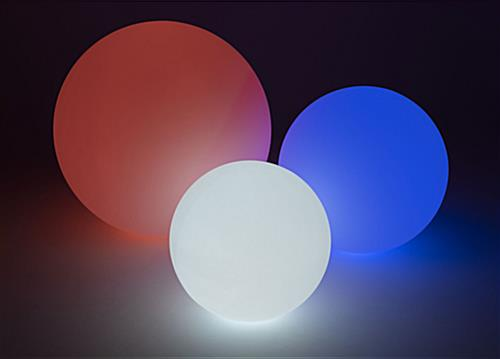 LED glow ball comes in a variety of sizes