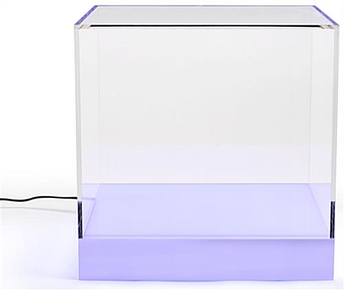 LED lighted display cube with 5-foot Power Cord