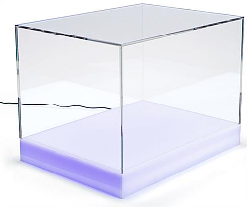 Countertop led collectables display case with power cord