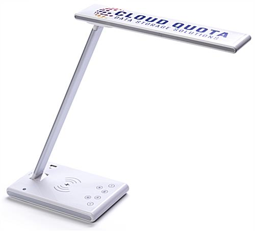 Branded phone charging task lamp with full color custom printing
