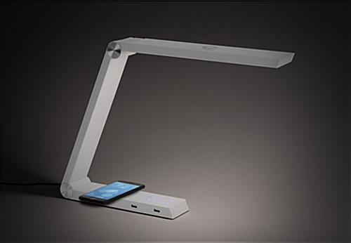 Custom task lamp charger with LED lighting