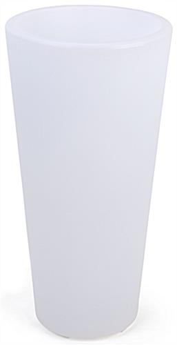 LED ice bucket/planter is made with rugged polyethylene