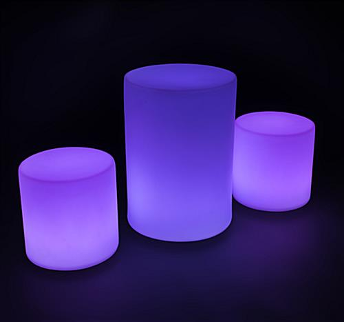 Illuminated Cocktail Table Set with 16 Color Options