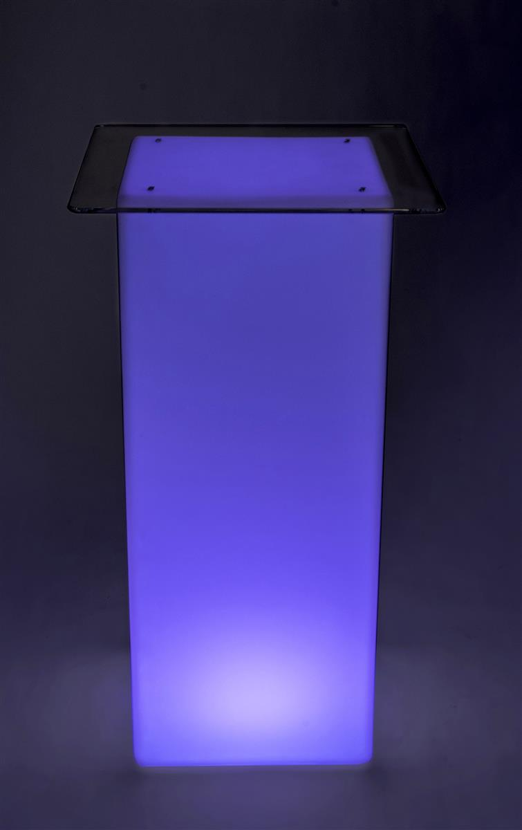 UZO1 Illuminated//Lighted Color Changing Led Cocktail Bistrol  Tables W//Remote