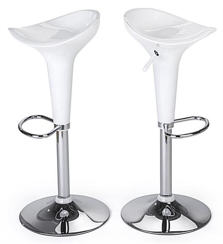 LED tall boy bar table set with 2 adjustable height stools