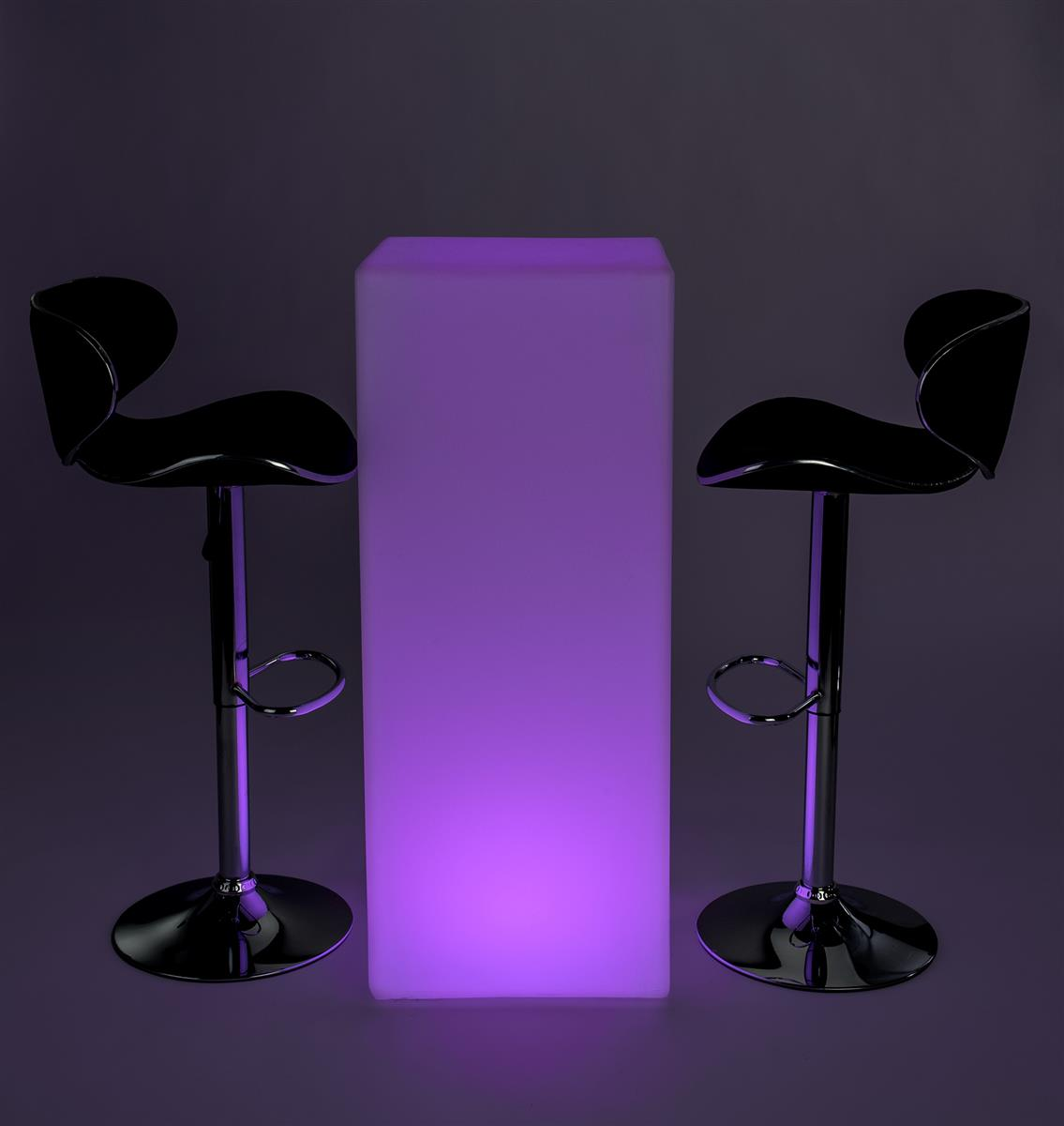 Led Tall Boy Bar Table Set Rechargeable Battery