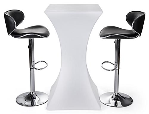 Water Resistant Hourglass LED pub table set