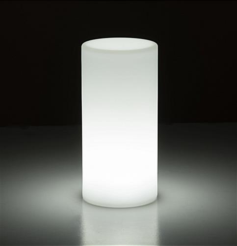 LED table light cylinder with rechargeable battery