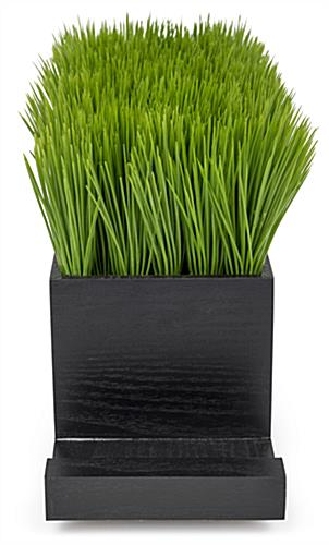black grass desktop charging station with rectangular design