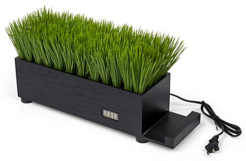 black grass desktop charging station for style and function