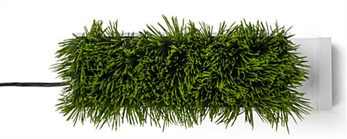 maintenance-free plastic grass decorative charging planter