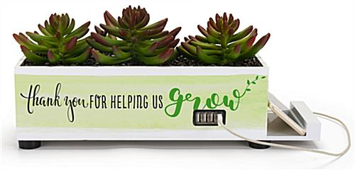 Custom plastic succulent charge hub with 4 USB ports