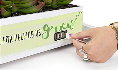 Custom plastic succulent power hub charges 4 devices at a time