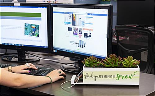 Custom plastic succulent charge hub with portable design