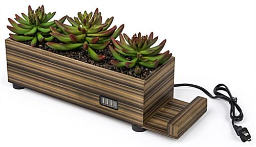 functional and stylish plastic succulents decorative charging planter