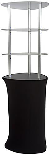 Pop Up Display Tower with Zipper