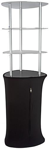 Pop Up Display Tower with Black Fabric Cover