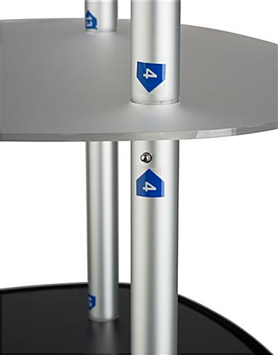 Promotion Graphic Tower Display with Carrying Bags
