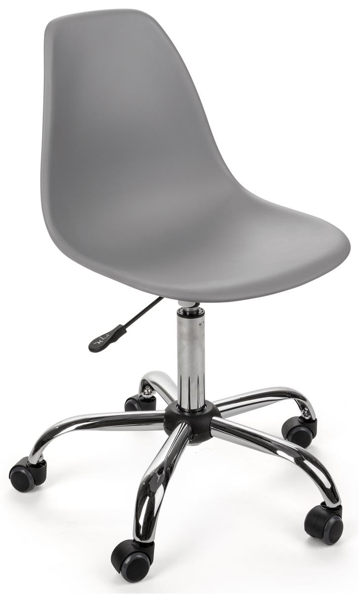 Enjoyable Standard Height Chair Molded Resin Seat With Steel Base Wheels Gray Inzonedesignstudio Interior Chair Design Inzonedesignstudiocom