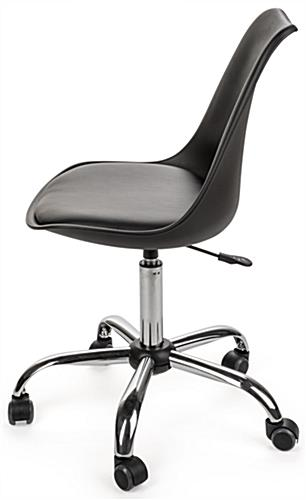Molded Wheeled Office Chair with Metal Base